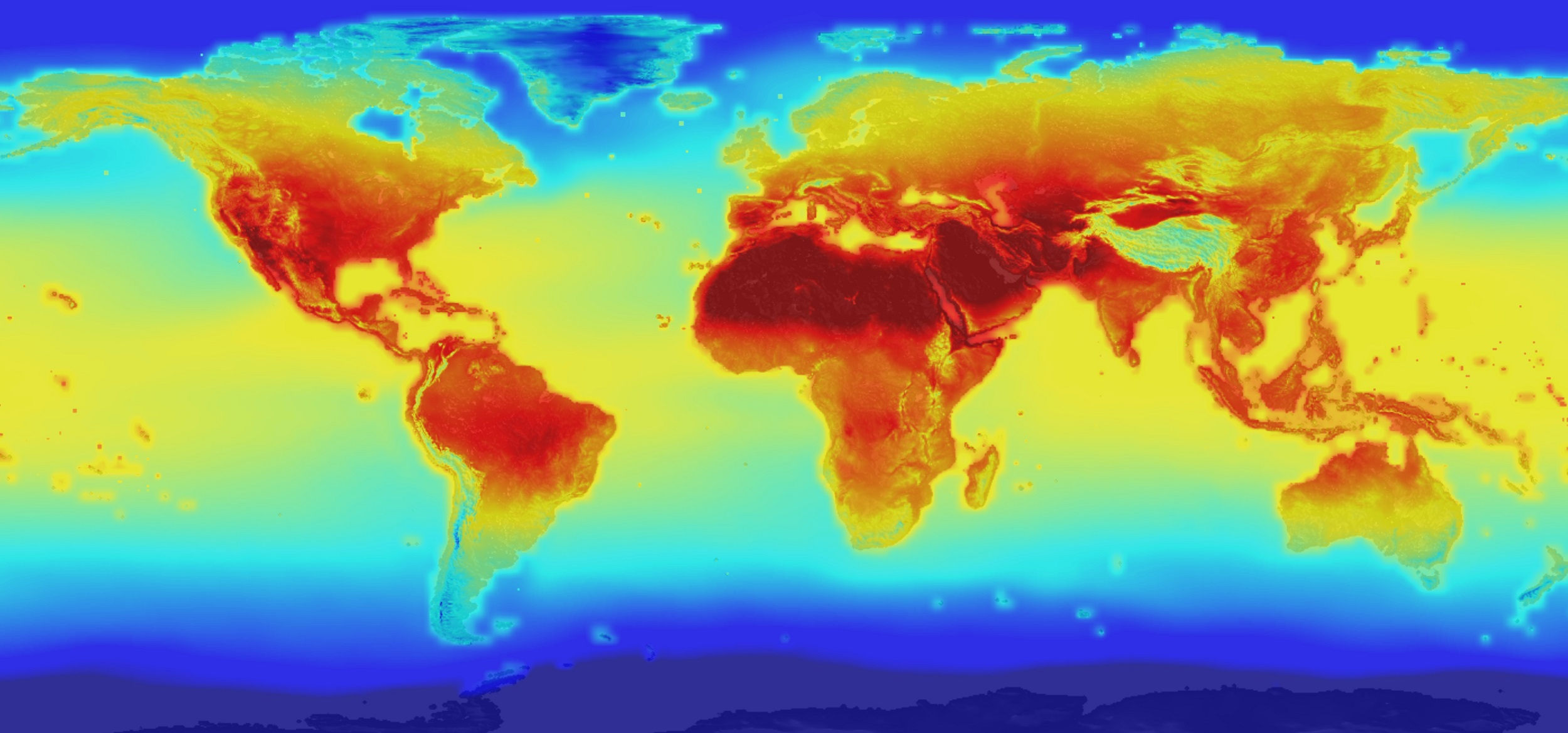 Map of global surface warming