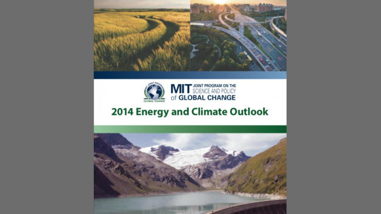 "Cover of the report, ""2014 Climate and Energy Outlook"""