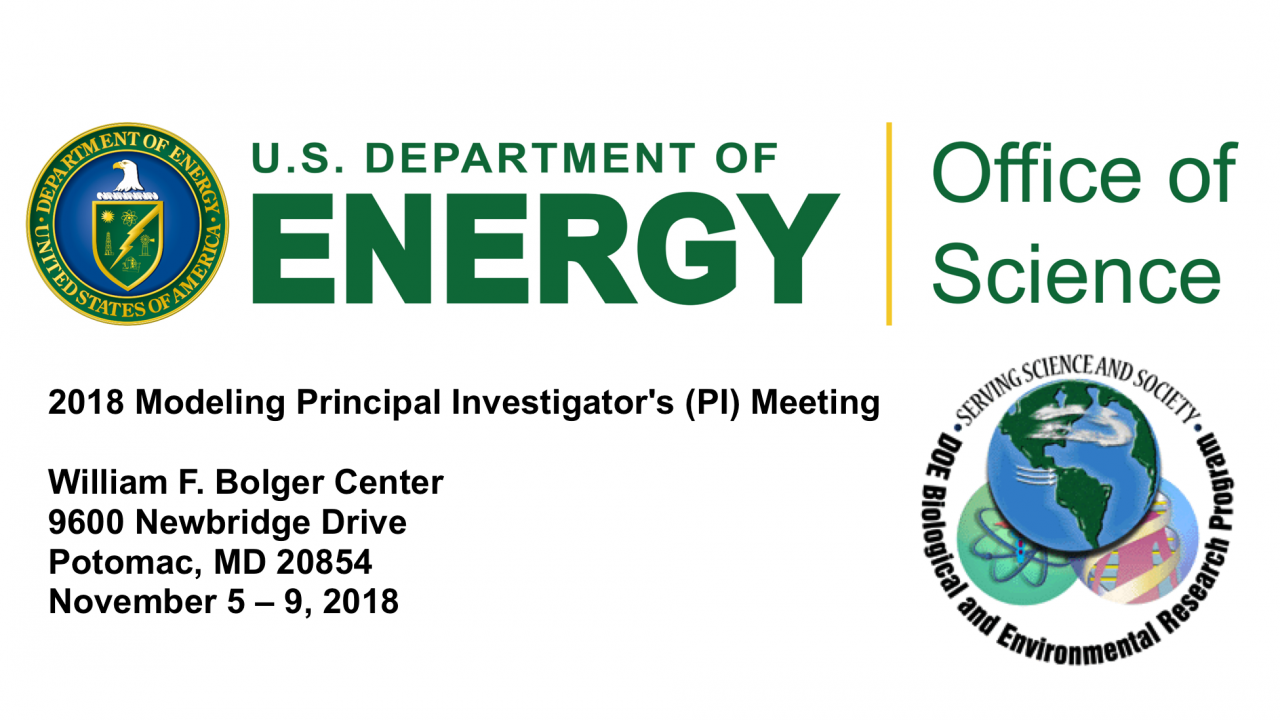 2018 DOE Modeling PI Meeting